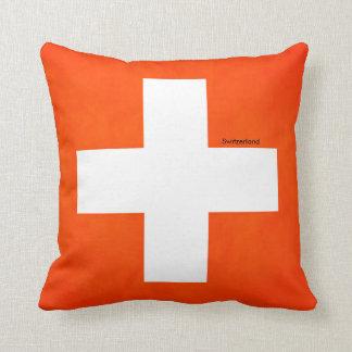 Die Schweiz-Flagge für Wurf-Kissen Kissen