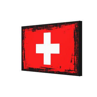 Die Schweiz-Flagge Leinwanddruck