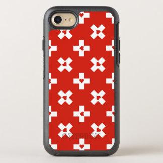 Die Schweiz-Flagge mit Herzmuster OtterBox Symmetry iPhone 8/7 Hülle