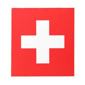Die Schweiz-Flagge Notizblock