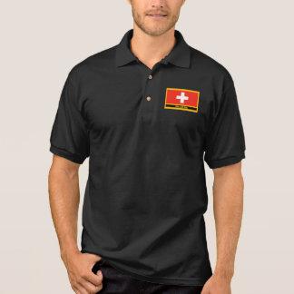 Die Schweiz-Flagge Polo Shirt