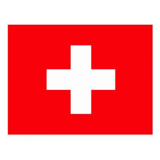 Die Schweiz-Flagge Postkarte