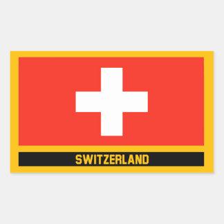 Die Schweiz-Flagge Rechteckiger Aufkleber