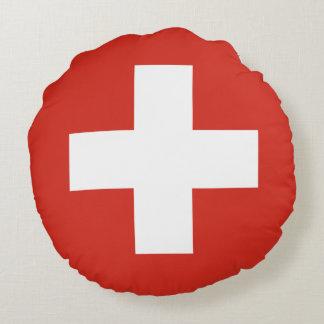 Die Schweiz-Flagge Rundes Kissen