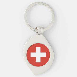 Die Schweiz-Flagge Schlüsselanhänger