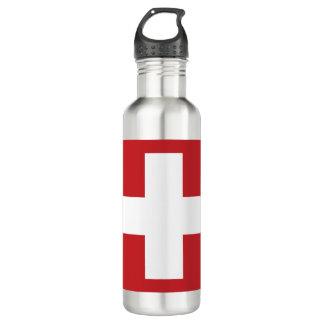 Die Schweiz-Flagge Trinkflasche