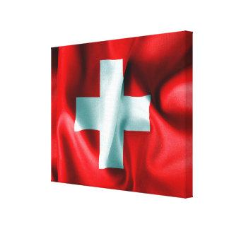 Die Schweiz-Flaggen-Leinwand-Druck Leinwanddruck