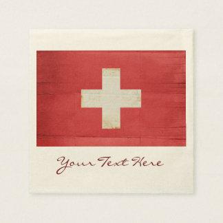 Die Schweiz-Flaggen-Party-Servietten Serviette