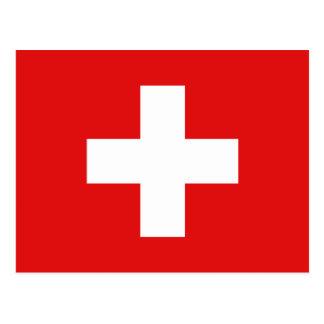 Die Schweiz-Flaggen-Postkarte Postkarte