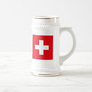 Die Schweiz-Flaggen-Tasse Bierkrug