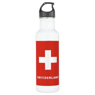 Die Schweiz-Flaggen-Wasser-Flasche Edelstahlflasche
