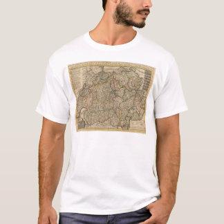 Die Schweiz gravierte Karte T-Shirt