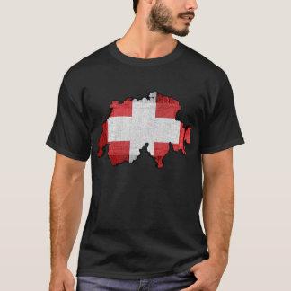 Die Schweiz-Karten-Flagge T-Shirt