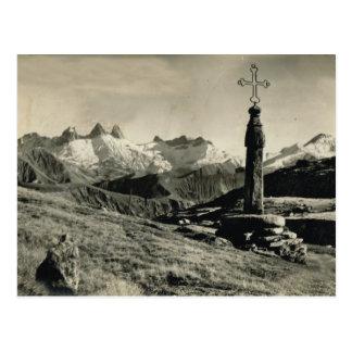 Die Schweiz, Kreuz auf dem Berg, Jungfrau Region Postkarten