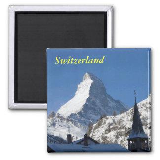 Die Schweiz-Magnet Quadratischer Magnet