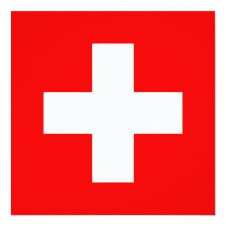 Die Schweiz Quadratische 13,3 Cm Einladungskarte