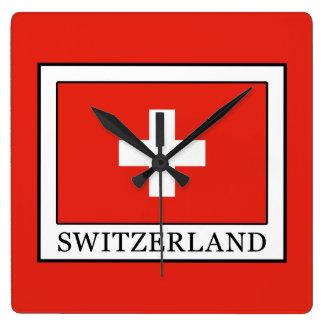 Die Schweiz Quadratische Wanduhr
