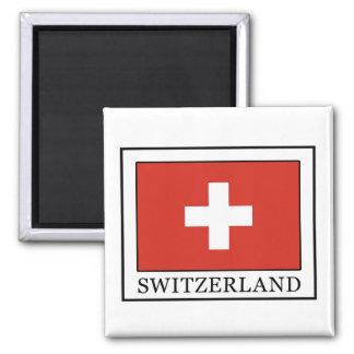 Die Schweiz Quadratischer Magnet