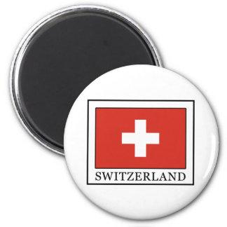Die Schweiz Runder Magnet 5,7 Cm