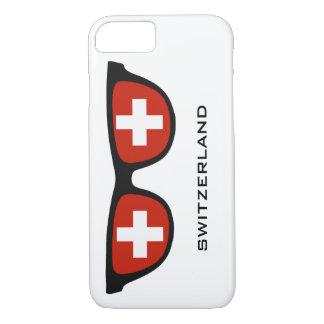 Die Schweiz schattiert kundenspezifische Text- u. iPhone 8/7 Hülle