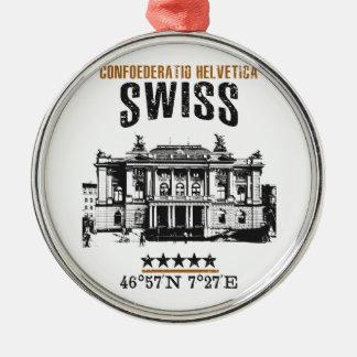 Die Schweiz Silbernes Ornament