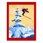 Die Schweiz-Skispringen Postkarten