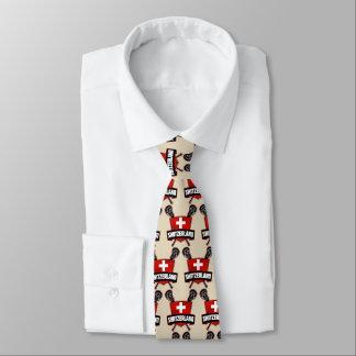 Die Schweizer-Schweizlacrosse-Logo-Krawatte Krawatte