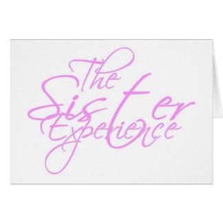 Die Schwester-Erfahrung Karte