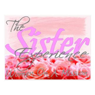 Die Schwester-Erfahrung Postkarte