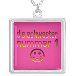 Die Schwester Nummer 1 - Schwester der Nr.-1 auf Halskette Mit Quadratischem Anhänger