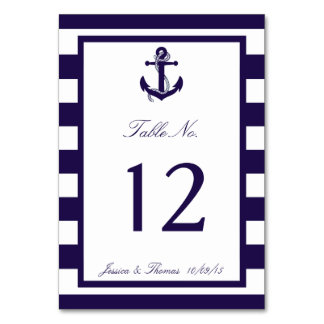 Die Seeanker-Marine-Streifen-Hochzeits-Sammlung