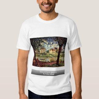 Die Seine am Heiligen-Mammès durch Sisley Alfred T Shirt