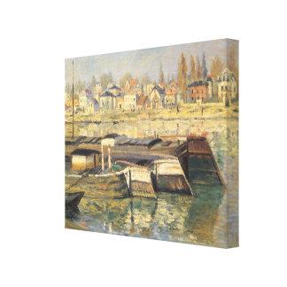 Die Seine bei Asnieres durch Claude Monet, Leinwanddruck