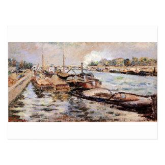 Die Seine durch Armand Guillaumin Postkarten