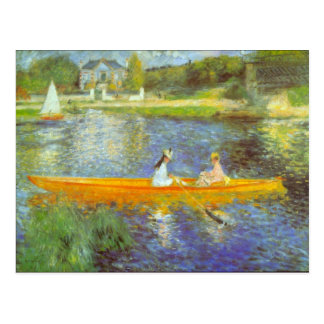 Die Seine durch Pierre Renoir Postkarte