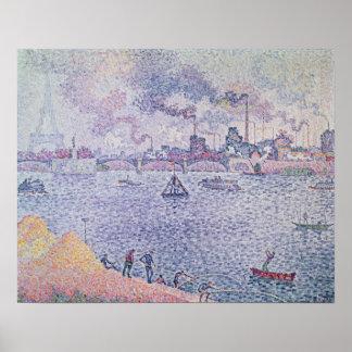 Die Seine, Grenelle, 1899 Poster