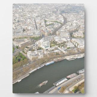 Die Seine in Paris, Frankreich Fotoplatte