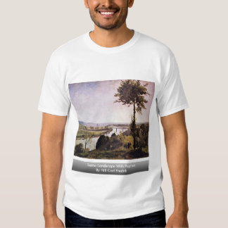 Die Seine-Landschaft mit Pappeln durch Hügel Karl T-Shirts