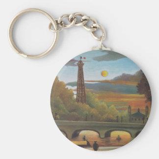 Die Seine und Eiffelturm am Sonnenuntergang durch Schlüsselanhänger
