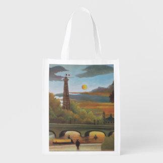 Die Seine und Eiffelturm am Sonnenuntergang durch Wiederverwendbare Einkaufstasche