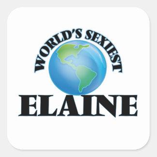 Die sexyste Elaine der Welt Quadrataufkleber