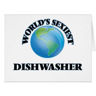 Die sexyste Spülmaschine der Welt Riesige Grußkarte