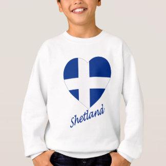 Die Shetlandinseln-Flaggen-Herz mit Namen Sweatshirt