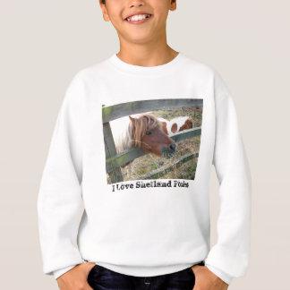 Die Shetlandinseln-Pony-T - Shirt, lange Hülse, Sweatshirt