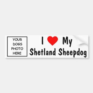 Die Shetlandinseln-Schäferhund Autoaufkleber