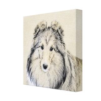 Die Shetlandinseln-Schäferhund Leinwanddruck