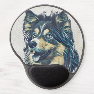 Die Shetlandinseln-Schäferhund-Malerei-Gel Gel Mousepad