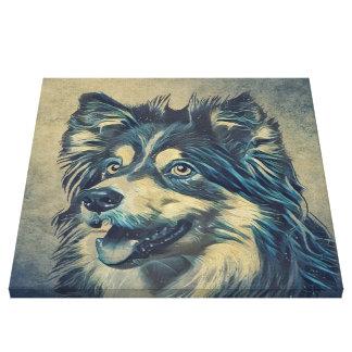 Die Shetlandinseln-Schäferhund-Malerei Leinwanddruck