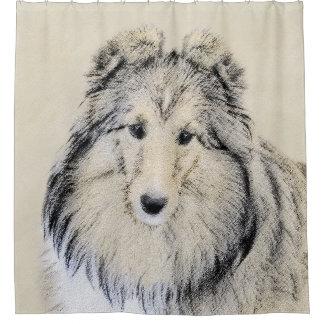 Die Shetlandinseln-Schäferhund-Malerei - niedliche Duschvorhang
