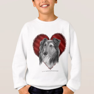 Die Shetlandinseln-Schäferhund mit Herzen Sweatshirt
